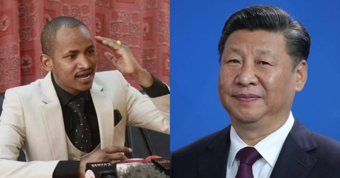 LEFT: Kenyan legislator Babu Owino | RIGHT: Chinese President Xi Jinping