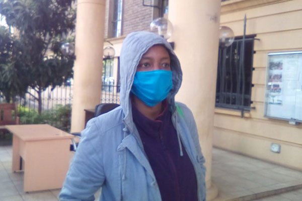 Susan Njeri Wachiuri at the Milimani Law Courts on May 7, 2020.              | She was charged with murdering her boyfriend Kelvin Njenga Ng'ang'a. [PHOTO by Nation Media Group's RICHARD MUNGUTI]