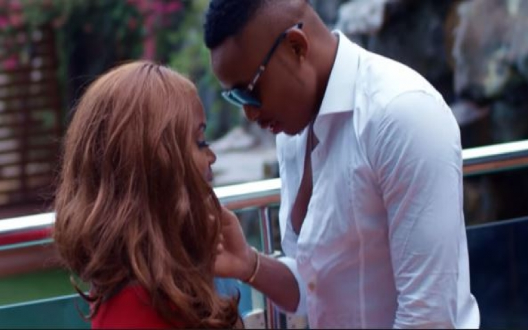 "A snapshot from Otile Brown and Sanaipei Tande's widely watched hit-song ""Changuo La Moyo"""