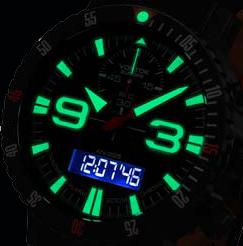 Vostok Europe 9516-5554250 Beleuchtung