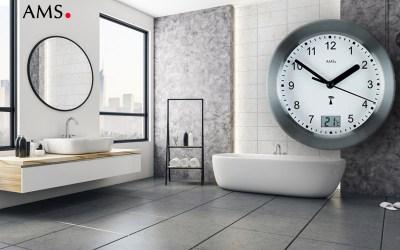 Die AMS 5925 Badezimmeruhr