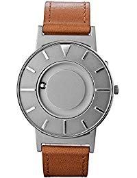 eone Bradley Voyager Unisex Uhr aus Edelstahl mit ital. Lederarmband