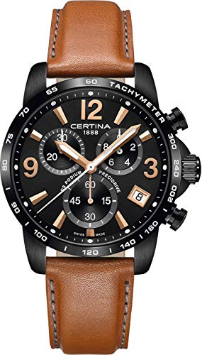 Certina Men's DS Podium 41mm Leather Band Quartz Watch C034.417.36.057.00