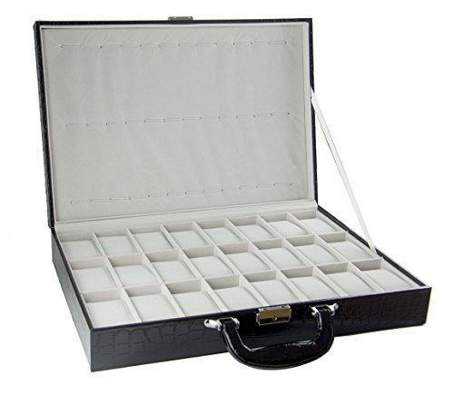 Feibrand PU Uhrenbox für 36 Uhren