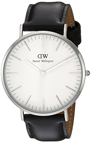 Daniel Wellington Classic Herren-Armbanduhr Analog Quarz Leder - DW00100020