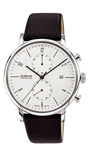 Dugena Herren-Armbanduhr Dessau Chronograph - Modern Classic Analog Quarz Leder7000239