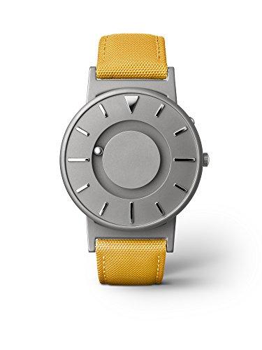 eone BRADLEY CLASSIC Unisex Uhr - Leder/ Stoff Armband mustard