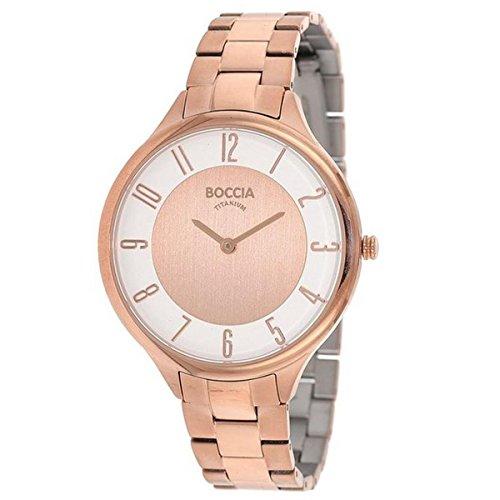 Boccia Damen-Armbanduhr Analog Quarz Titan 3240-06