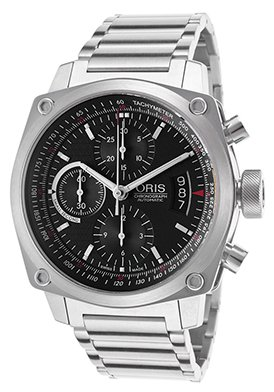 Oris BC4 Chronograph Automatic Steel Mens Watch Calendar Black Dial 674-7616-4154-MB