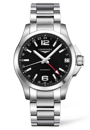 Uhr Longines Herren Automatik L36874566Stahl Quandrante schwarz Armband Stahl