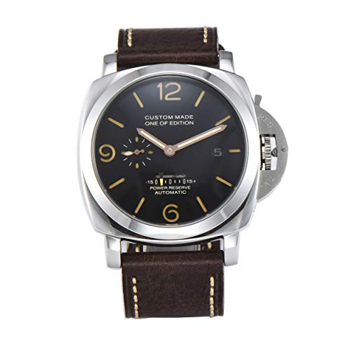 PARNIS-MM 9508 Deutsche Edition Herrenuhr Automatik-Uhr 47mm Edelstahl-Gehäuse Leder Mineralglas 5BAR Seagull ST36 Uhrwerk Gangreserveanzeige Datum