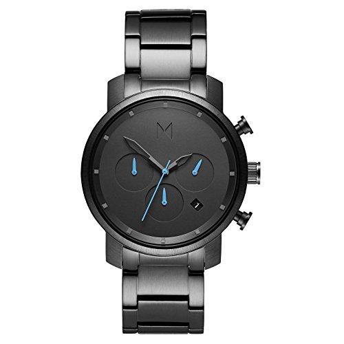 MVMT Herren Chronograph Quarz Uhr mit Edelstahl Armband D-MC02-GU