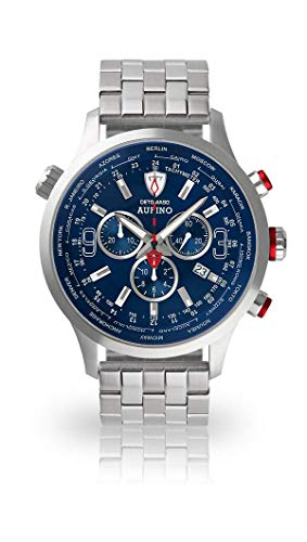 DETOMASO AURINO Chronograph Silver/Blue DT1061-C