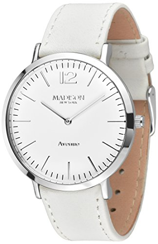 MADISON NEW YORK Damen-Armbanduhr Avenue Analog Quarz Leder L4741D