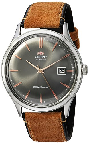"ORIENT ""Bambino 4"" Klassisch Automatikwerk mit Handaufzug Zifferblatt grau Armbanduhr FAC08003A"