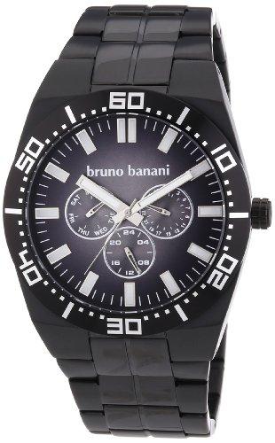 Bruno Banani Herren-Armbanduhr XL Brahma Analog Quarz Edelstahl beschichtet BR22004