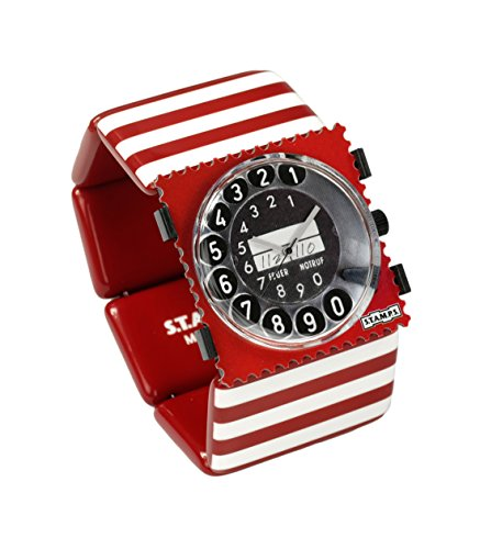 S.T.A.M.P.S. Stamps Uhr KOMPLETT - Zifferblatt Call me auf Belta Stripes Red White