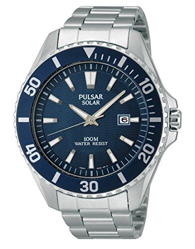 Pulsar Herren-Armbanduhr XL Sport Analog Quarz Edelstahl PX3033X1