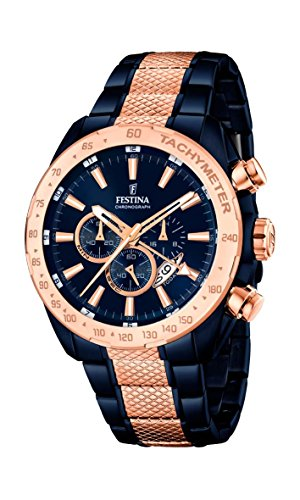 Festina Herren-Armbanduhr Chronograph Quarz Edelstahl beschichtet F16886/1