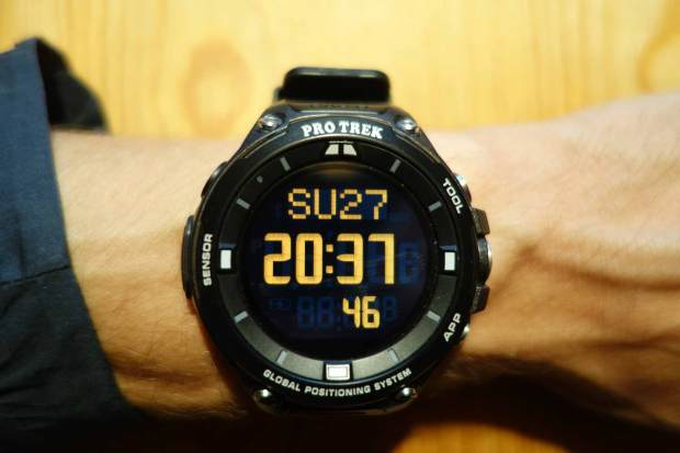 Casio ProTrek Smart using Dual-Layer Watch Face