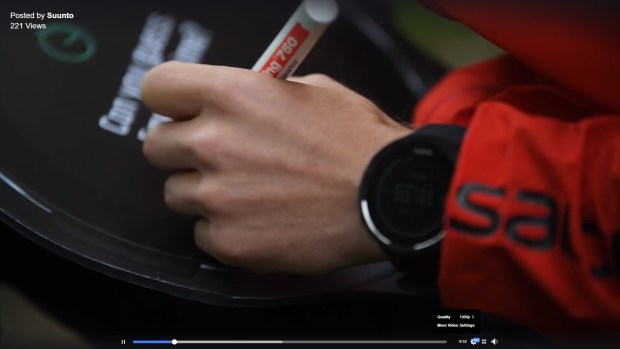 New Suunto (Spartan 2?) watch on Zegama Aizkorri promo video...