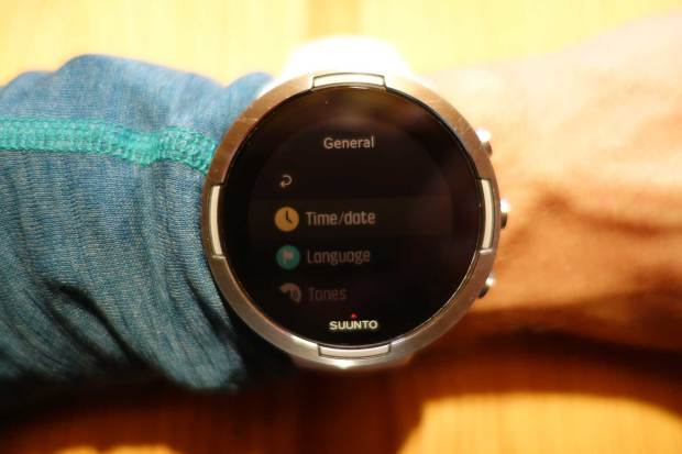 Time/date entry in Suunto Spartan and 9 menu