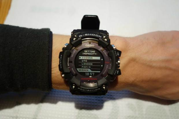 Rangeman World Time Setting (Homecity) Menu