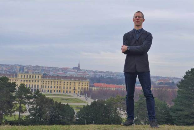 With Casio Rangeman and in Blazer Above Schönbrunn