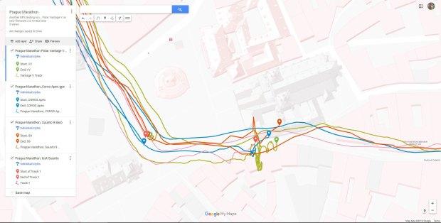 Prag Marathon: GPS am Start (und im Ziel)