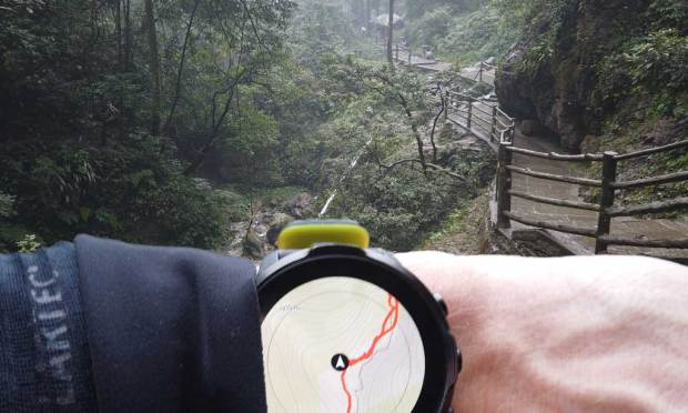 Suunto 7 on trail