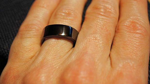 Oura Ring on Ring Finger