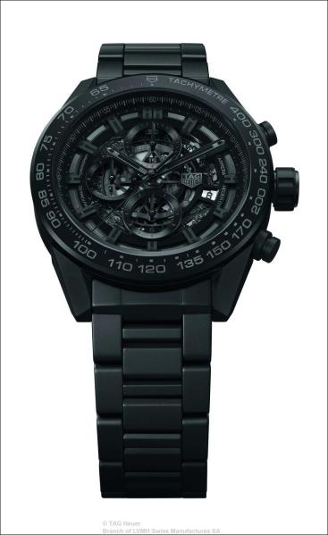 TAG Heuer : CARRERA HEUER 01 - Full Black Matt Ceramic