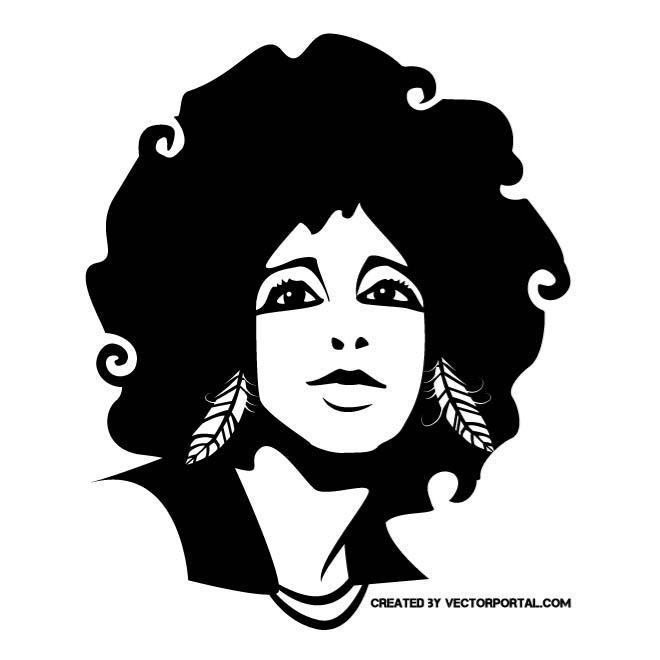 Afro Girl Vector Portrait Free Vectors UI Download