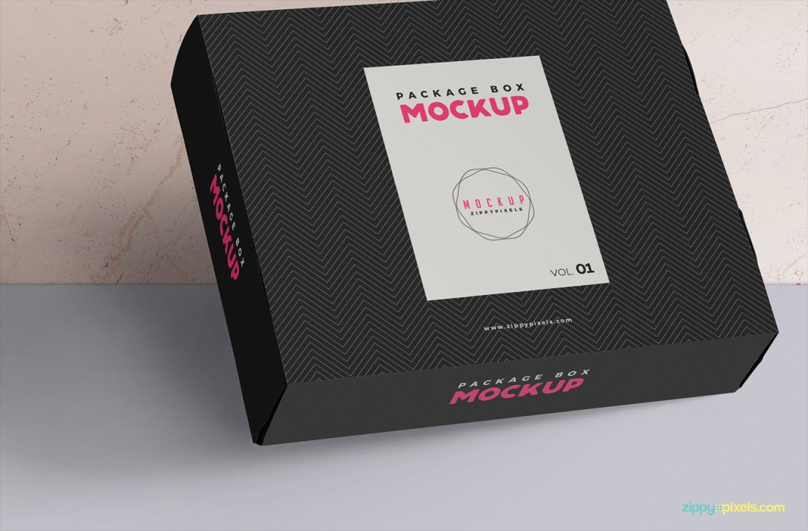 Download Free and Elegant Box Packaging Mockup | free psd | UI Download