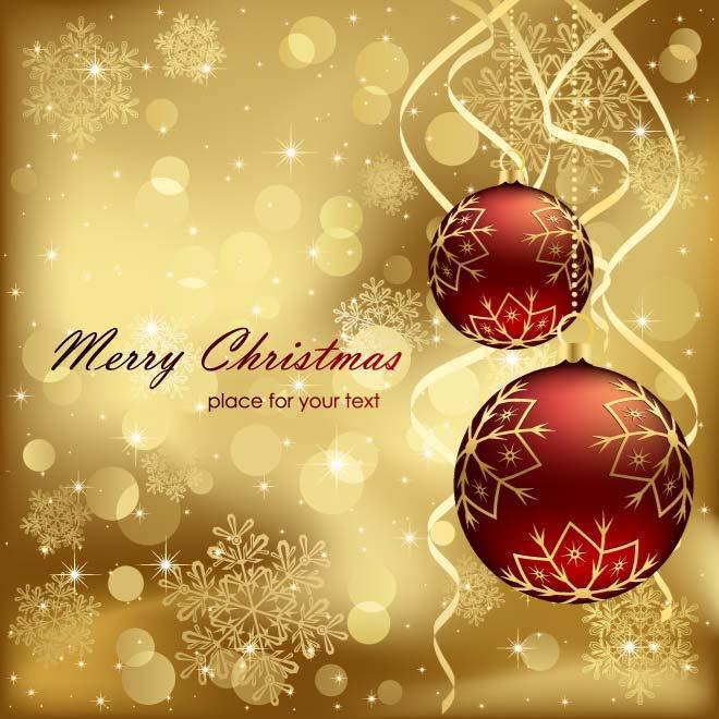 Christmas Gold Card Vector Free Vectors UI Download
