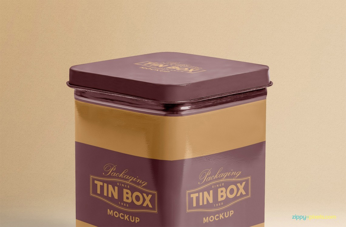 Download Free Metallic Box Packaging Mockup | free psd | UI Download
