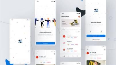 Coupons & Discounts App Freebie- uifreebies.net