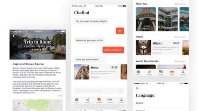 Travel App UI Kit for Sketch- uifreebies.net