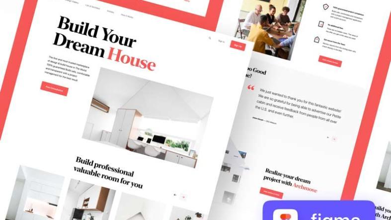 Archmove Marketplace Landing Page Free