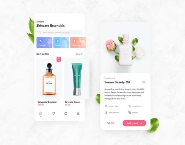 Cosmetics App UI Kit Free