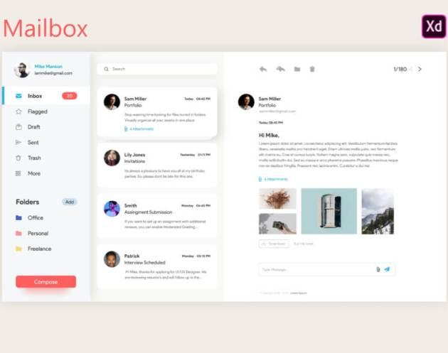 Mailbox Web Concept Free