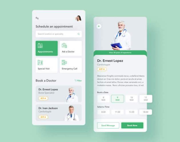 Medical Doctor App Desgin - uifreebies.net