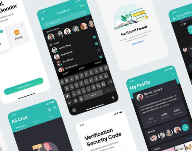 Sophie Messaging UI Kit Free