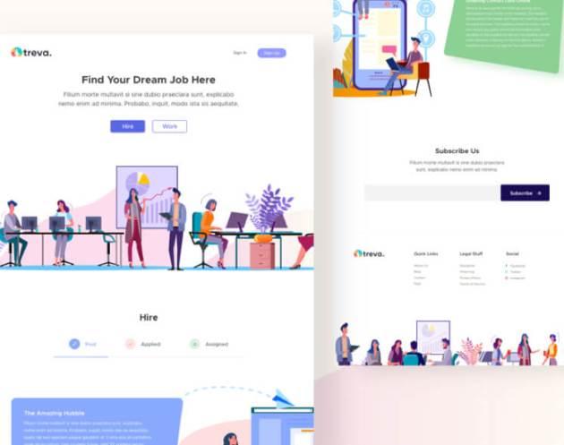 Treva Job Landing Page Free