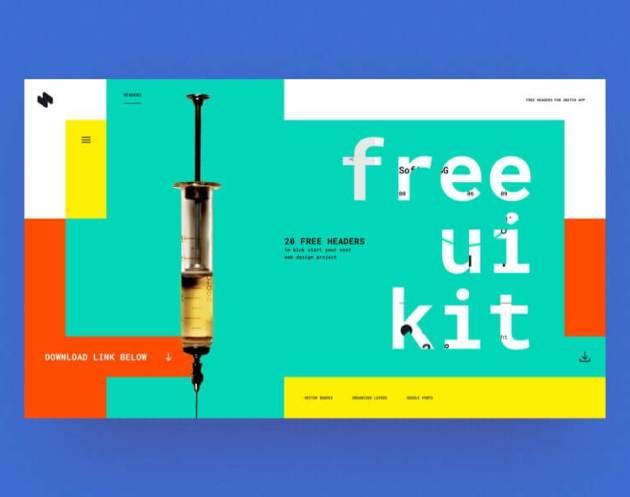 HeaderZ Web Design- uifreebies.net