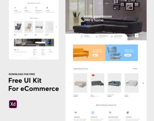 Furniture Ecommerce Web Free