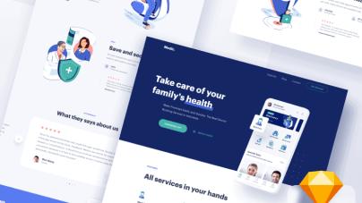 Medical Website Design- uifreebies.net