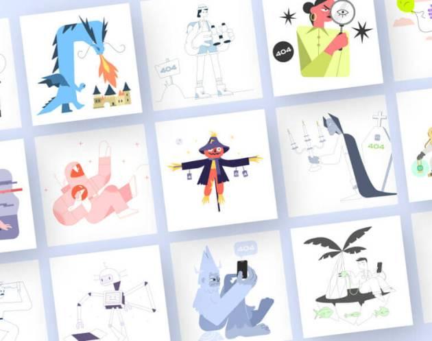 Error 404 Illustrations- uifreebies.net