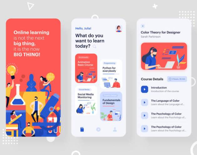 Online Learning Apps- uifreebies.net