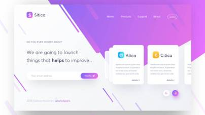 Sitica Landing Page Design- uifreebies.net